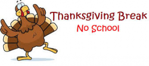 Thanksgiving Break- No School @ Indian Prairie Elementary