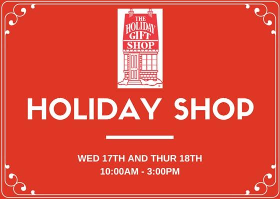 Holiday Shop this week