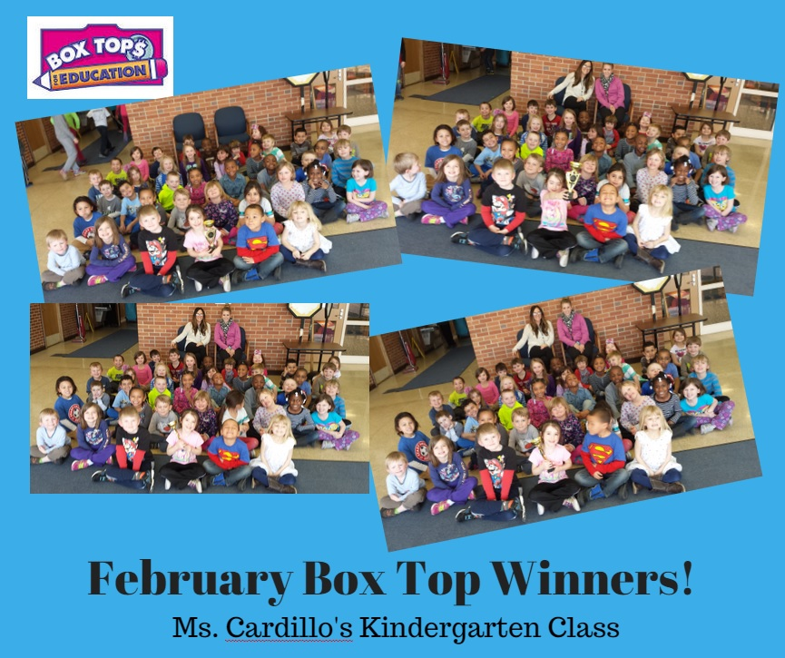February's Box Top Winners