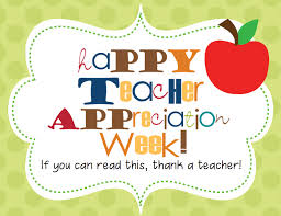 Teacher Appreciation wee