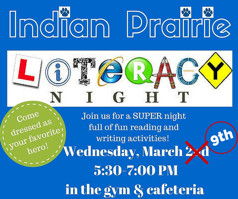 Literacy Night - Indian Prairie Kalamazoo